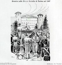 1847,TORINO,Piazza Castello: ORCORTE,Dentista e Ciarlatano,Dentist.Zahnarzt.1929