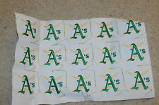 "VINTAGE LOT OF 15 MLB OAKLAND ATHLETICS BASEBALL 4"" PATCHES UNPUNCHED"
