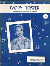 IVORY TOWER Sheet Music  1956  Cathy Carr