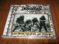 "INSULTER ""Blood Spits, Violences and Insults"" CD sarcofago sextrash mystifier"