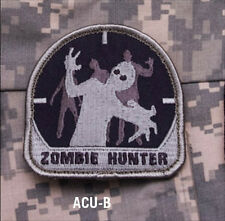 ZOMBIE HUNTER morale patch Mil-Spec Monkey hook back ACU B