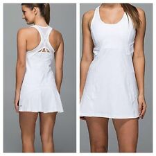 NWT $108 LULULEMON 10 ACE DRESS TENNIS GOLF WHITE COVER UP MESH RUNNING SKIRT