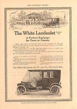 1911 WHITE LANDAULET  ORIG VINTAGE  CAR  AD