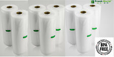 8 VACUUM FOOD SEALER ROLLS 40meters SAVER SEAL BAG  COM HEAT GRADE 4by22 4by28cm