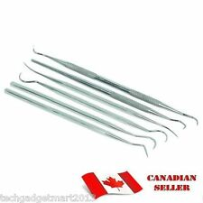 6 PC DENTAL TOOTH PICK PIC PROBE SET KIT STAINLESS STEEL ST140
