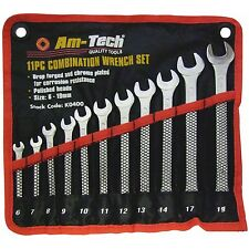 11 x Combination SPANNER Set With Storage Wallet 6-19mm Plumbing DIY Pipe