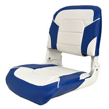 CLASSIC BLUE / WHITE DELUXE ALL WEATHER BOAT FOLDING FISHING SEAT SINGLE 75140WB