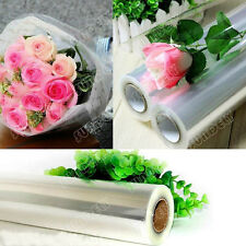 20M X 50CM CELLOPHANE ROLL FILM PLAIN CLEAR THICK FLORIST HAMPER GIFT WRAP CRAFT