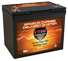 VMAX MB107 12V 85ah Everest & Jennings Solaire AGM SLA Battery Replaces 75ah