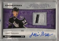 2007-08 Hot Prospects LAURI TUKONEN Prized Rc Patch Auto /399