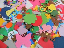 500 piece grab bag die cuts Lot Mixed Hand punched Embellishments scrapbooking