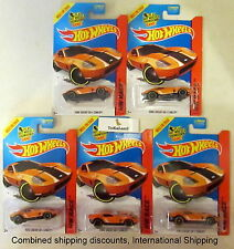 Hot Wheels 2015 178/250 Race Track Aces Orange Ford Shelby GR-1 Concept Lot of 5
