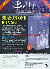 "Buffy The Vampire Slayer ""Season One Box Set"" 1999 Magazine Advert #4493"