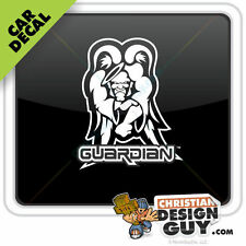 Guardian Angel Car Decal Window Sticker Christian God Heaven Skate Tough Guy