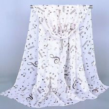 Top Selling Women's Ladies  Musical Note Chiffon Neck Scarf Shawl Muffler Scarf