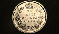 1908-1998 Canada SILVER PROOF 10 Cents Coin - Very SCARCE Mirror Finish Cdn 10¢!