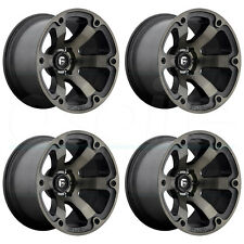 18x9 Fuel Beast D564 6x4.5/6x114.3 14 Black Machined Wheel New set(4)