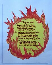 RING OF FIRE country clipping June Carter Cash color lyric sheet Merle Kilgore