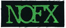 NOFX green logo CLOTH PATCH sew on **FREE SHIPPING** punk, white trash, ribbed