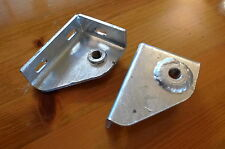 Land Rover Series 2A/3 & Defender Seatbelt Mounting Brackets Galvanized New PAIR