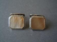 Klassische alte 835 Silber Manschettenknöpfe Manschetten Perlmutt 10,2 g