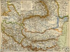 1899= ROMANIA BULGARIA SERBIA=  Antica Mappa  = Old Map