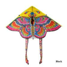 New 90cm Colorful Traditional Chinese Butterfly Kite Without String Black Tail