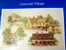 New Cross Stitch Kit Cotswold Village Rose Swalwell Aida Cloth Village England