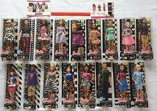 Barbie 2016 Fashionistas Wave 2 COMPLETE Doll Lot of 17 Curvy Tall Petite Dolls