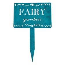 Rustic Wooden Secret Fairy Garden Stake Plaque Sign Shabby Vintage Chic Gift