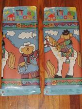 "LOT OF 2 NORWALL LITTLE ROOMS WALLPAPER BORDER WESTERN HORSES ANIMATED 10"" X 5yd"