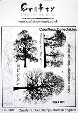 SET 6 Winter Trees & Sayings Nature Crafty Individuals Unmounted Rubber Stamp