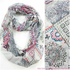 US SELLER | infinity loop Bohemian unique retro infinity scarf eternity loop