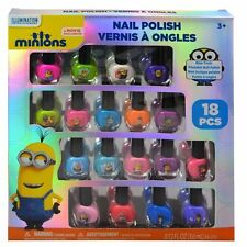 New Minions Movie Despicable Me 18PC Nail Polish Gift Set Peel-Able Non-Toxic