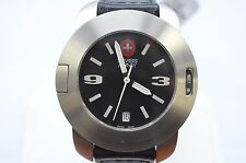 New Victorinox Swiss Army 25535 SC Mens Analog Watch Automatic SS leather date