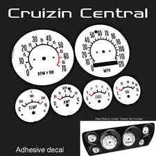 Plastic WHITE DECALS Holden Torana LC LJ GTR dial gauge dash speedo adhesive