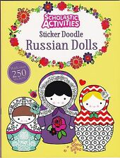 Sticker Doodle Book, Russian Dolls - Doodle, Activity, Sticker Book