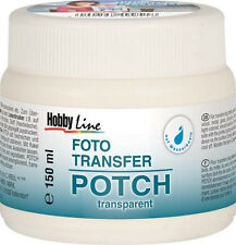 Foto Transfer Potch 150 ml (5 €/100 ml), Photo Transfer Kleber