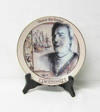 Age of Discovery Explorer Plate with Stand Vasco da Gama