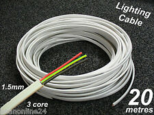20M Roll x 1.5mm Electrical Cable Flat 3 Core (2C + E) TPS for Lighting Circuits