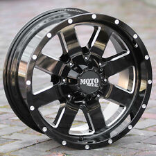 18x9 Black wheels MOTO METAL 962 Chevy Gmc Dodge 2500 3500 Trucks 8 lug 8x6.5