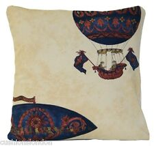 Hot Air Baloons Vintage Race Cushion Cover Chatsworth Monkwell Printed Fabric