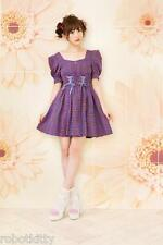 Genuine Liz Lisa x Kanno Yui collaboration Plaid Dress BNWT