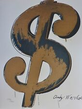ANDY WARHOL $ DOLLAR SIGN SAND SIGNED & HAND NUMBERED 1240/3000 LITHOGRAPH