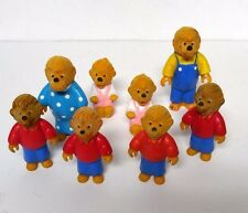 Vintage The Berenstain Bears Toy Lot Figures Happy Meal 1986 8 Pc Collectibles