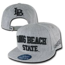 Gray CSULB Cal State Long Beach 49ers University NCAA Snapback Baseball Cap Hat
