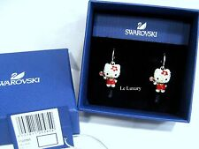 Swarovski Hello Kitty Lollipop Pierced Earrings, Crystal Authentic MIB 1120585