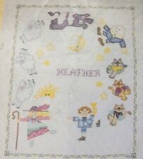 "Nursery Rhyme BABY QUILT Cross Stitch Embroidery COMPLETE KIT 34""X43"""