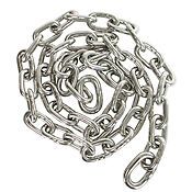 """5/16"""" 316L stainless steel anchor chain/sold by the foot"""