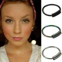 New Stainless Steel Nose Hoop Ring Earring Body Piercing Studs Jewelry